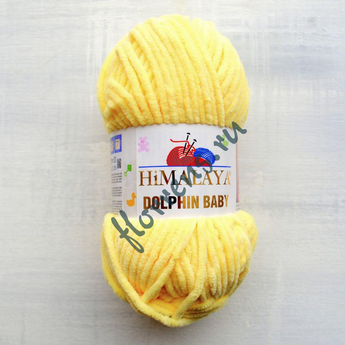 Пряжа Himalaya Dolphin baby / 80302 лимон