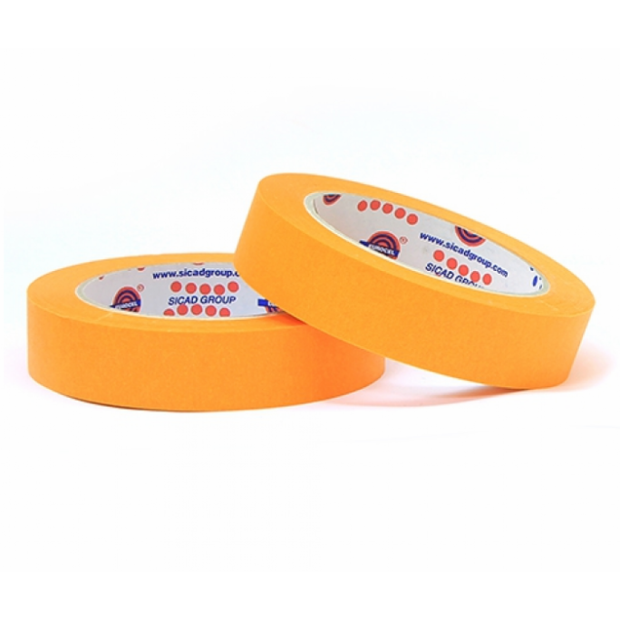 Eurocel Маскирующая лента 80°С - 30мин., 25мм. х 40м., оранжевая