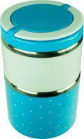 Двухсекционный детский ланчбокс 1 литр синий
