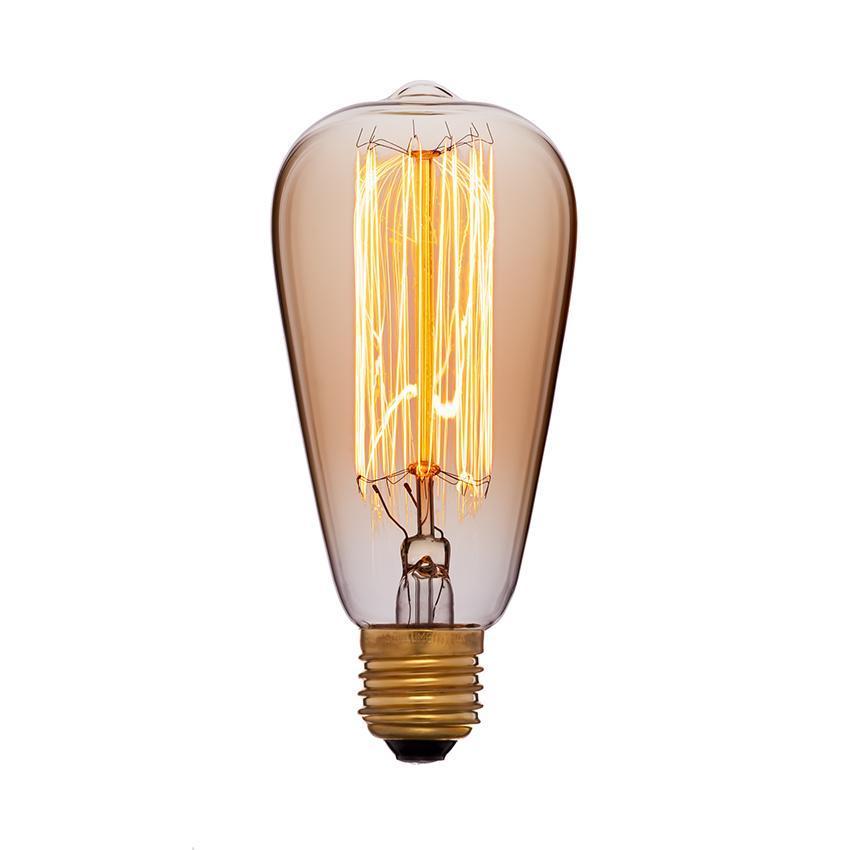 Лампа накаливания E27 40W золотая 051-910