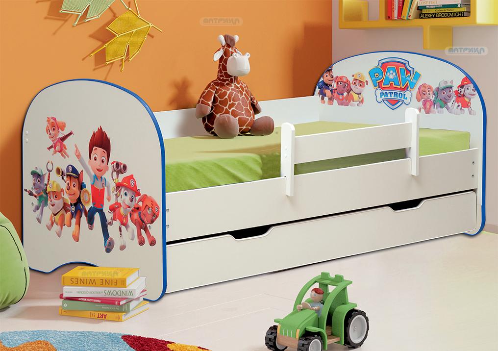 Кровать детская с фотопечатью с 1-м ящиком (от 700 до 800)