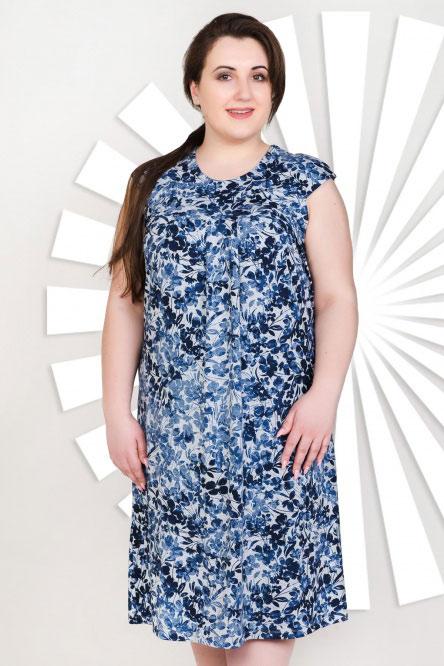 Платье арт.0906-54 ндиго, вискоза
