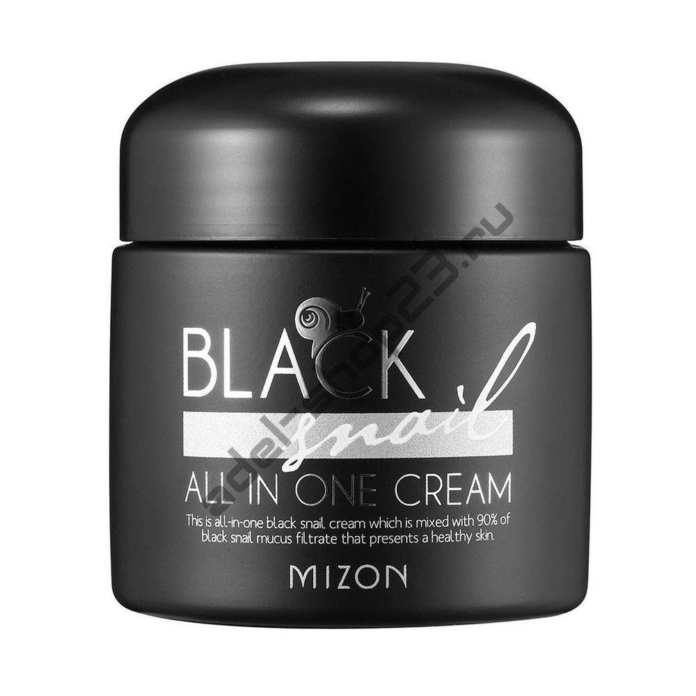 MIZON - Крем премиум-класса с экстрактом черной улитки Black Snail All In One Cream