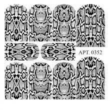 Слайдер-дизайн для ногтей № 0352