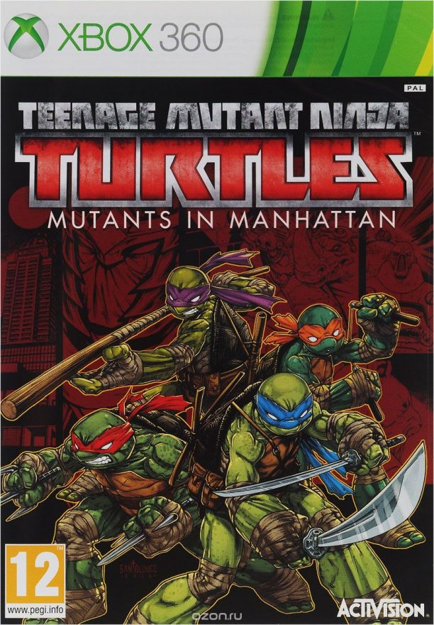 Игра Teenage Mutant Ninja Turtles Mutants in Manhattan (Xbox 360)