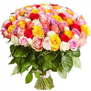 Букет из роз ассорти (Россия, 50-60 см).
