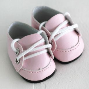 Обувь для кукол - мокасины 5 см (розовые)