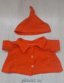 Толстовка оранжевая на Басика 30