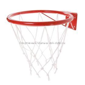 Кольцо баскетбольное №3 с упором и сеткой