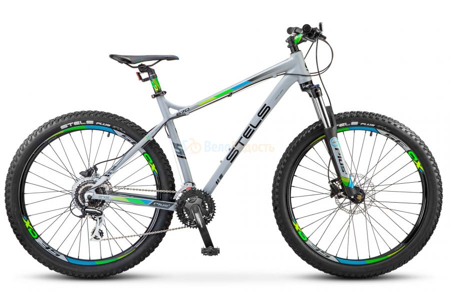 Велосипед полуфэт Stels Navigator 670 D 27.5+ V020 (2018)