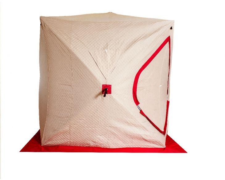 Палатка куб для зимней рыбалки SY- 0129 2х2х2 белый/оранжевый