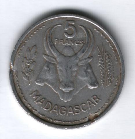 5 франков 1953 года Мадагаскар