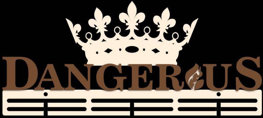 Медальница опасная с короной из дерева на заказ