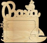 Детская метрика фоторамка деревянная на заказ