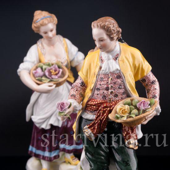 Изображение Пара в желтых костюмах, Volkstedt, Германия, нач.20 в.