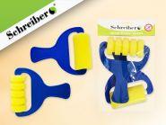 Набор спонжей-роликов художественных поролоновых с пластиковыми рукоятками, 2 шт. (арт. S 1737)