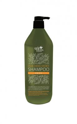 """Шампунь для поврежденных волос """"Our Herb Story"""" БЕЗ парабенов, парафинов, бензофенона, красящих веществ 620мл"""