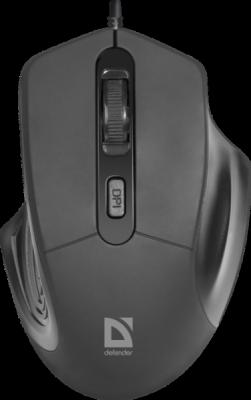 НОВИНКА. Проводная оптическая мышь Datum MB-347 черный,4 кнопки, 800-1600 dpi
