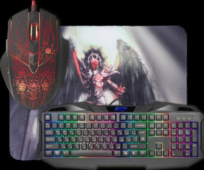 Игровой набор Anger MKP-019 RU, мышь+клавиатура+ковер