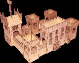 Замок деревянный конструктор