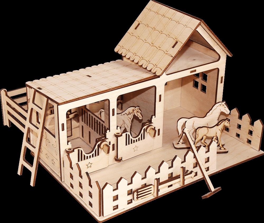 Деревянный конструктор Конюшня