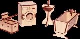 """Ванная для кукольного домика """"Дом принцессы"""""""
