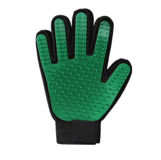 Перчатка Для Вычёсывания Шерсти True Touch, Цвет Зеленый