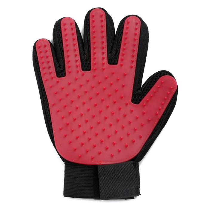 Перчатка Для Вычёсывания Шерсти True Touch, Цвет Красный