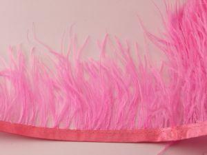 Перо страуса 7-9 см на тесьме, цвет №010 (1уп = 1 метр)