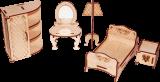 """Спальня для кукольного домика """"Дом принцессы"""""""