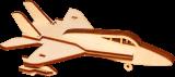 Деревянный конструктор самолет