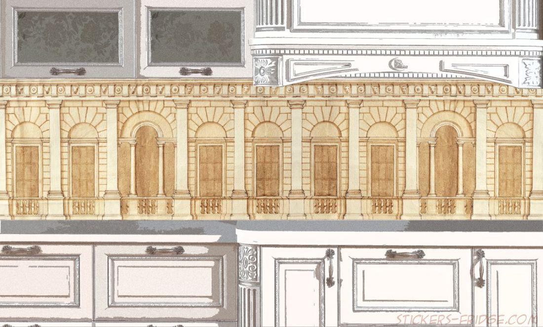 Фартук для кухни - Чертеж архитектора