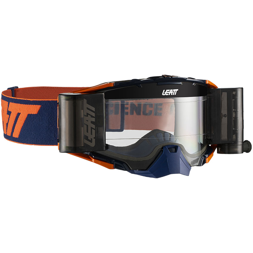 Leatt Velocity 6.5 Roll-Off Ink/Orange Clear 83%, очки для мотокросса и эндуро с системой грязеочистки