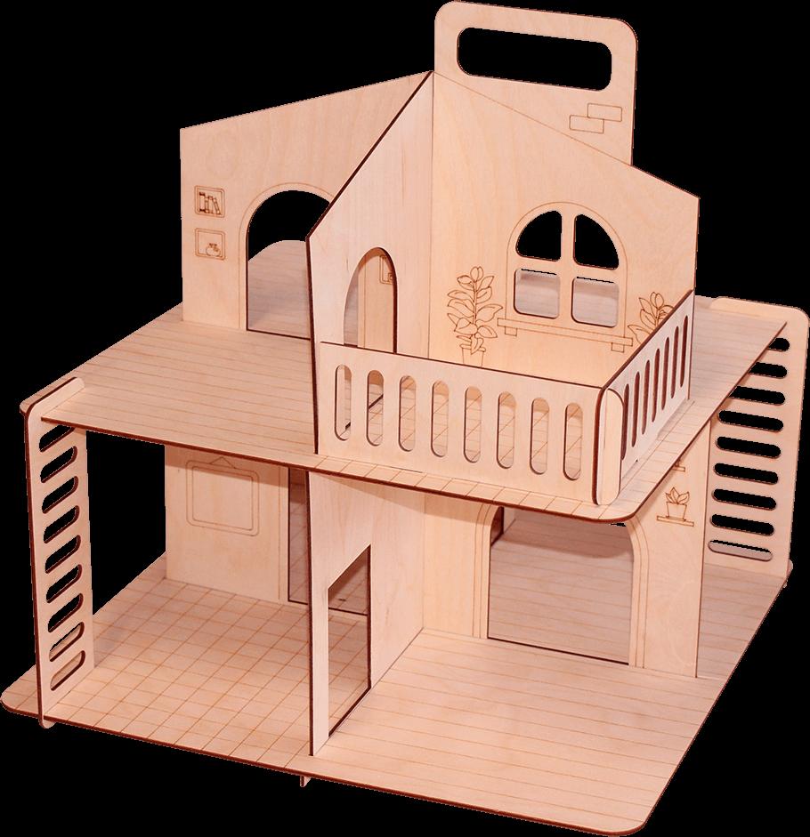 Дачный домик без крыши