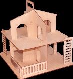 Дачный кукольный домик без крыши