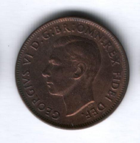 1/2 пенни 1949 года Австралия AUNC