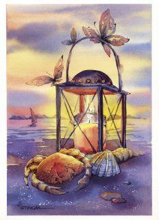 Почтовая открытка Летний фонарь
