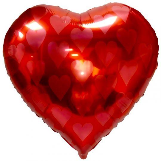 Червы Карточные масти шар фольгированный с гелием