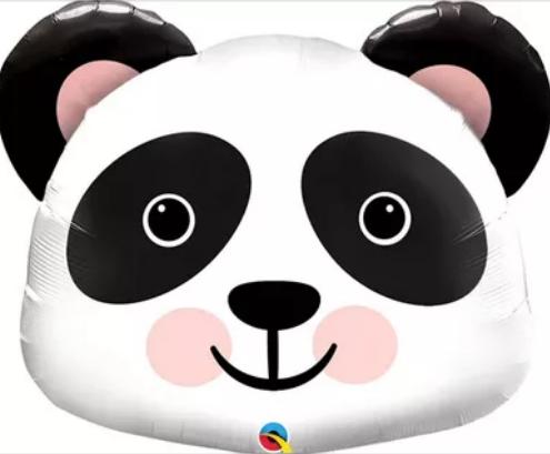 Голова панды шар фольгированный с гелием