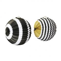 Набор из 2 бумажных шаров Черный