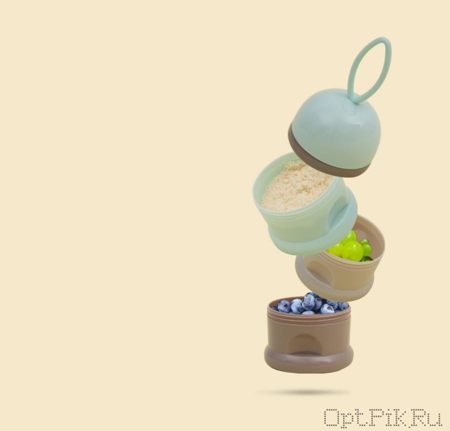 Контейнер для детской смеси, питания или фруктов. Цвет: фруктовые джунгли
