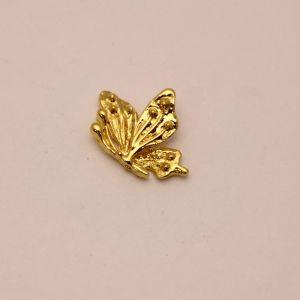 """`Кабошон металл """"Бабочка"""", цвет: золото, размер: 26*19мм, Р-КБС0360-1"""