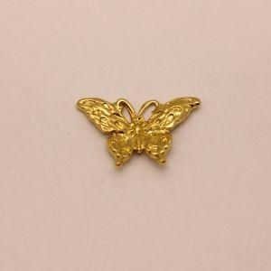 """Кабошон металл """"Бабочка"""", цвет: золото, размер: 29*19мм (1уп = 10шт), КБС0359-1"""