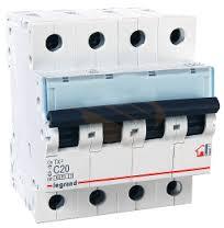 403957 Авт.выключатель TX3 C13A 4П 6000/10kA Legrand