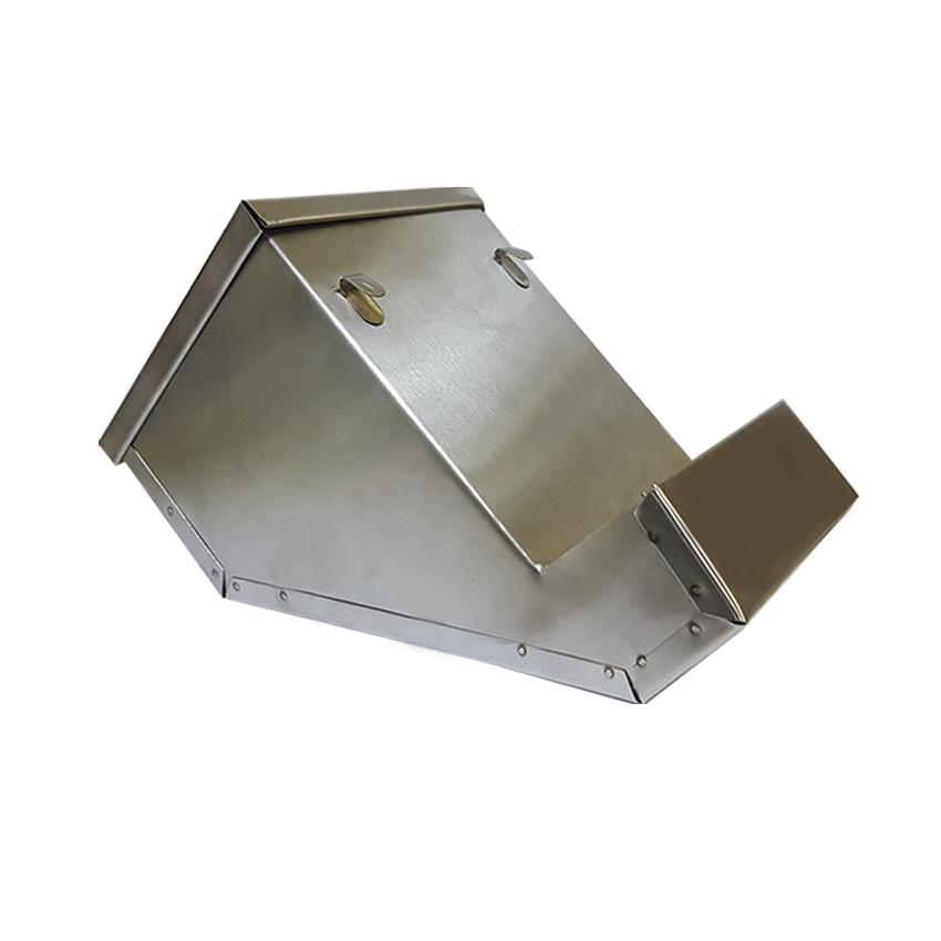 Кормушка для кроликов бункерная Тип-2 из нержавейки