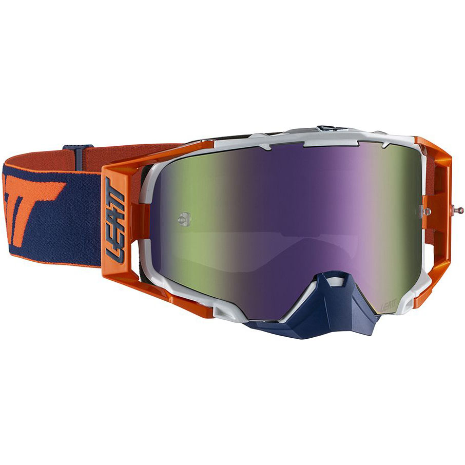 Leatt Velocity 6.5 Orange/Ink Purple UC 30%, очки для мотокросса и эндуро