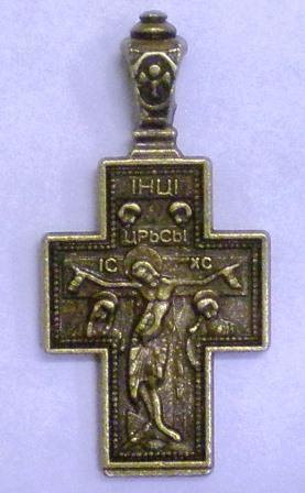 Крестик нательный большой (оборот Покров)