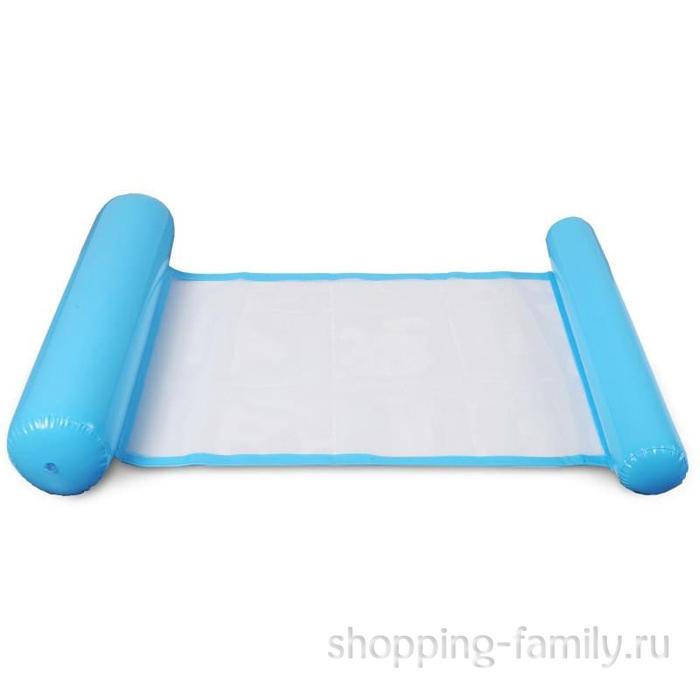 Надувной шезлонг для плавания Floating Bed, 130х73 см, голубой