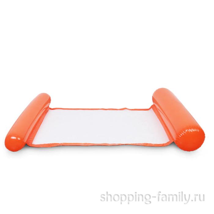 Надувной шезлонг для плавания Floating Bed, 130х73 см, оранжевый