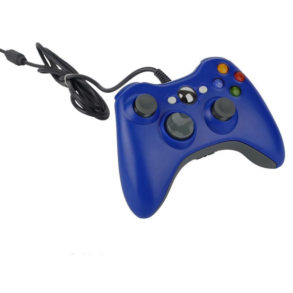 Джойстик проводной для Xbox 360 Controller Blue синий